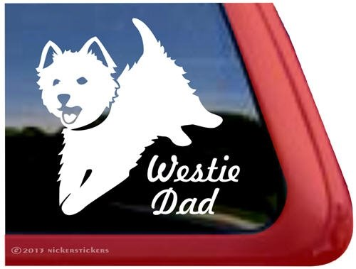 Westie Dad Highland Terrier Sticker