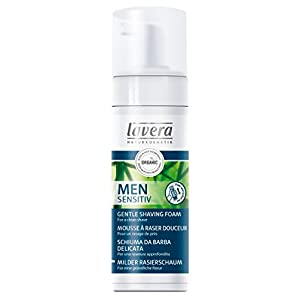 lavera Men Sensitiv Mousse à Raser Douceur – vegan – Cosmétiques naturels – Ingrédients végétaux bio – 100% naturel 150…