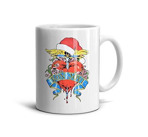 Bon-Jovi-Rock-Band-This-is-Our-House- Classic Coffee Mugs 11oz Ceramic Tea Cups,Bon Jovi Christmas,One Size