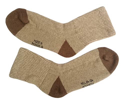 (Very warm soft 70% Camel Wool Winter Mens Socks, 1 pair. Made in Mongolia. (40-42(L)))