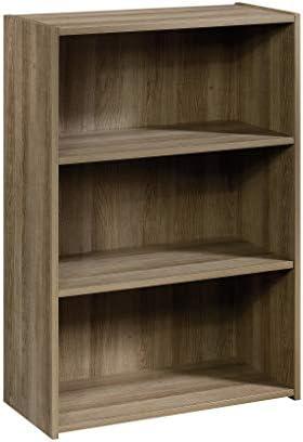 Sauder Beginnings 3-Shelf Bookcase, L 24.57 x W 11.50 x H 35.28 , Summer Oak finish