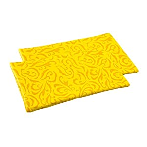 Soft Glasses Case - 2-Pack of Pocket Glasses Case with Snap Closure in a Variety of Colors and Designs (faux leather case with pattern, 2x yellow)