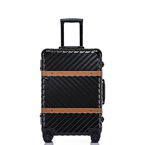 Lightweight Carry On, Aluminum Frame Hardside Luggage with Detachable Spinner Wheels 20 Inch ()