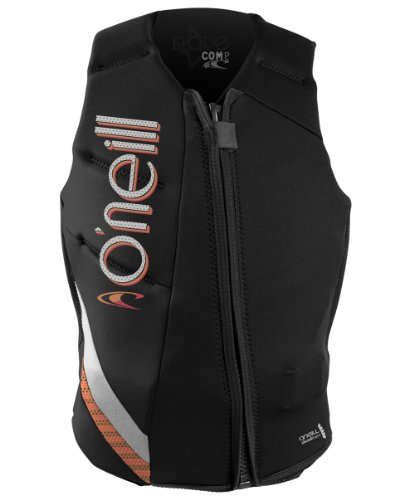 O'Neill Wetsuits Women's Flare Comp Vest, Black/Sorbet/Lunar, - Comp Wetsuit