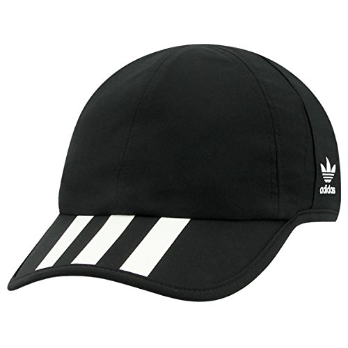 adidas Mens Originals 3-Stripes Trainer, Black/White, One Size - Adidas 3 Stripe Hat