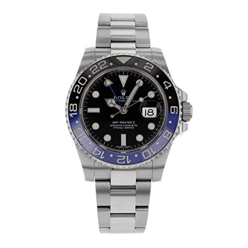 Rolex GMT Master II Black Dial Stainless Steel Mens Watch 116710BLNR