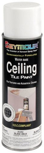 Spray Ceiling (Seymour 20-052 Ceiling Tile Paint, Old White)