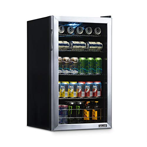 - NewAir NBC126SS02 Beverage Refrigerator and Cooler, Holds up to 120 Cans, Cools Down to 34 Degrees Perfect for Beer Wine or Soda