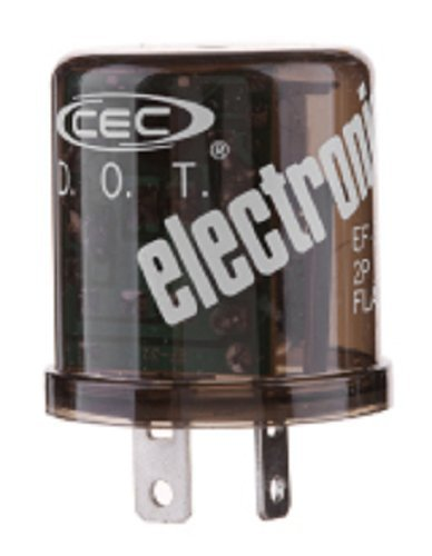 CEC Industries EF32 Electronic Turn Signal Flasher Relay, Round, 2 Prongs, 12 Volts ()