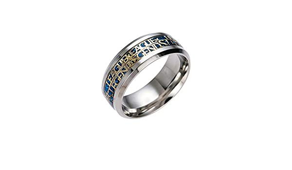 YUKFGH Ring Gift Gift 5 Colors New Ring World of Warcraft Rings Stainless Steel Cutting Plotter Men Titanium Steel-Blue,6: Amazon.es: Deportes y aire libre