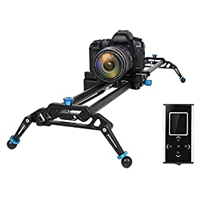 GVM Motorized Camera Slider DSLR Dolly With Automatic Looping Real Time Shooting Time Lapse Shots, Very Light Carbon Fiber, 48'' L