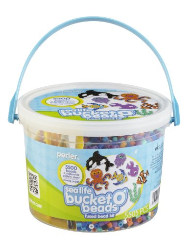 Perler Bucket Beads Fusion Kit Sea