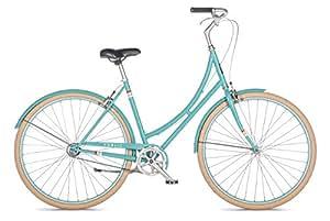 "PUBLIC Bikes Women's C1 Dutch Style Step-Thru Single-Speed City Bike, 16""/Small, Turquoise"