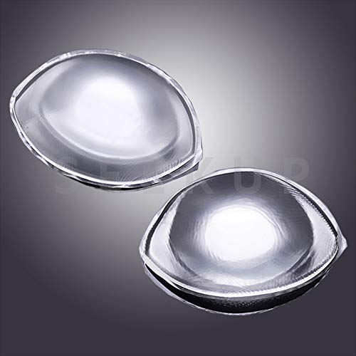 Thick Silicone Bra Inserts, Breast Gel Pads Chest Push Up & Firming Bust Enhancers Padding for B-D Cup, Transparent Large