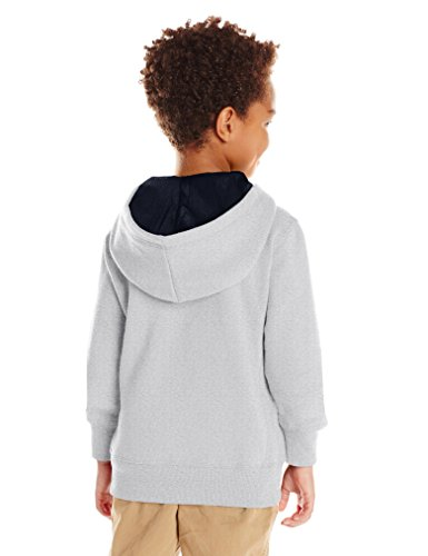 Scout + Ro Big Boys' Basic Fleece Hooded Jacket, Grey Heather, 14 by Scout + Ro (Image #3)