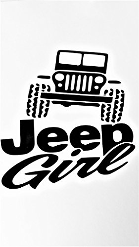 Jeep Girl Country Girl 4X4 Off Road Vinyl Decal Sticker|BLACK|Jeeps Cars Trucks SUV Laptops Tool Box Wall Art|5