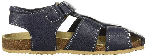 Large Product Image of The Children's Place Boys' BB Fisherman SCO Flat Sandal, Navy, Youth 12 Medium US Big Kid