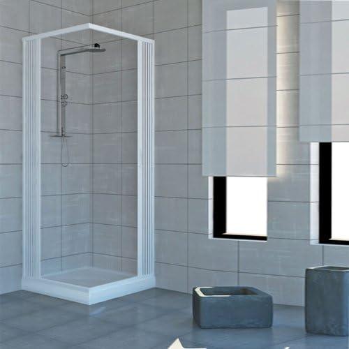 Rollplast - Mampara de ducha de dos puertas con cierre de ángulo ...