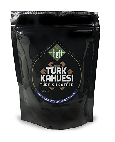 Heft Bait Roasted Rick Flavor Turkish Coffee, Finely ground for Espresso or Traditional Turkish Coffee 3.52OZ 100Gram