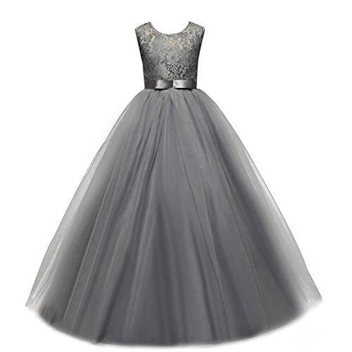 Yaphyee Flower Girls Sleeveless Long Pageant Dresses Maxi