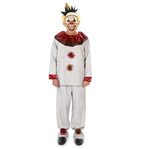 Womens Scary Clown Costumes (Scary the Carnival Clown with Mask Adult Costume XL)