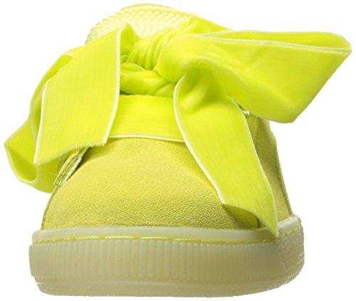 Puma Vrouwen Suede Hart Reset Wns Fashion Sneaker Zachte Fluo Geel-soft Fluo Geel