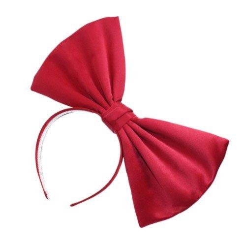 red bow headband - 2