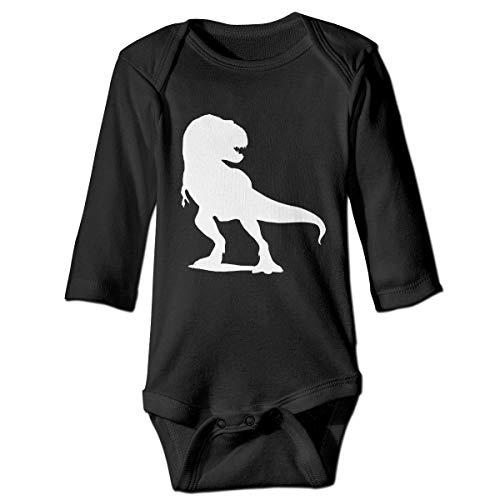 Aergaerg387 Dinosaur Baby's Long Sleeve Bodysuits/Baby Jumpsuit/Onesies Black 12M