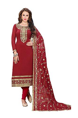 Kameez Donne Rosso Progettista Facioun Salwar Partywear Etnica Indiane Da Traditonal zUFwqOAn