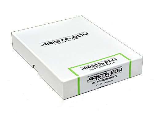 Arista EDU Ultra VC RC Black & White Photographic Paper, Semi-Matte 5x7, 100 Sheets