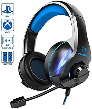 Auriculares Gaming para PS4 Xbox One,BICASLOVE Cascos Gaming ...