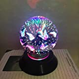 certainPL 3D Magical Light, Colorful USB Charging LED Light House Party Decor (A)