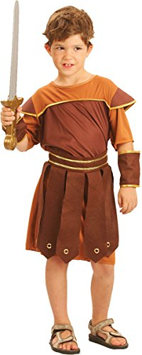 [Kids Fancy Party Gladiator Roman Soldier Book Week Day Costume Small] (Ancient Roman Soldier Costume)