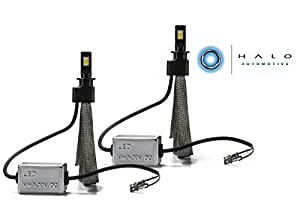 Halo Automotive Premium Fanless H3 LED Conversion Kit - 40w 8,000Lm 6000K White CREE - 2 Year Warranty