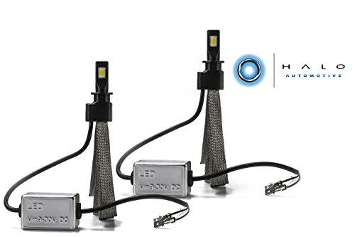(Halo Automotive Premium Fanless H3 LED Conversion Kit - 40w 8,000Lm 6000K White CREE - 2 Year Warranty)