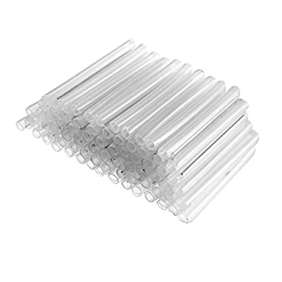 uxcell Fiber Optic Fusion Splice Tube Protector Sleeves, Clear Heat Shrinkable Tubing