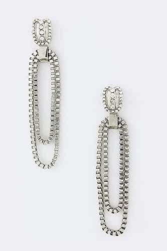 TRENDY FASHION JEWELRY PAPER CLIP CHAIN EARRINGS BY FASHION DESTINATION