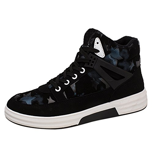 Sky Zapatillas de Deporte Hombre Deportes Casual High Board Board Zapatos de Cinco Puntas y Transpirables (44, Azul)