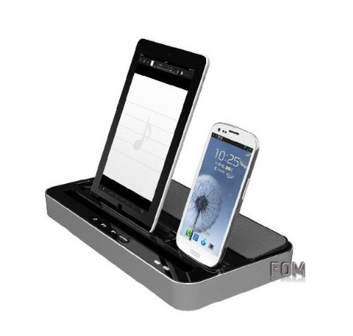 Multi-Function Docking Station Charger Speaker for iPhone...