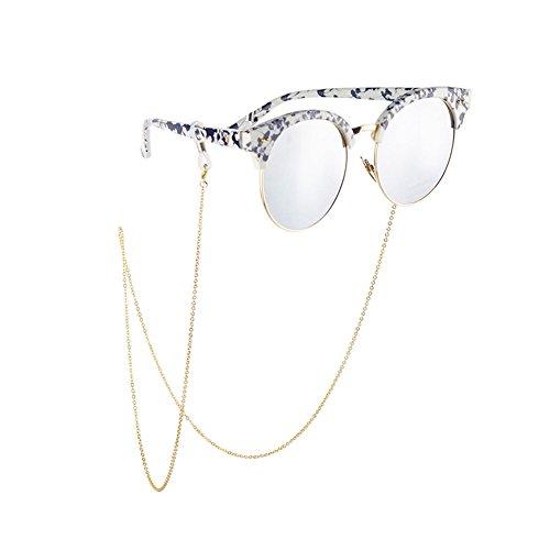 Unisex Non-Slip Metal Eyeglass Lanyard Glasses Chain Sunglasses Neck Strap Eyewear Retainer Rope Holder