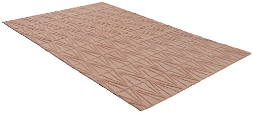 Rivet Sunset Textured Geo Pattern Wool Area Rug, 8' x 10', Pink by Rivet (Image #3)