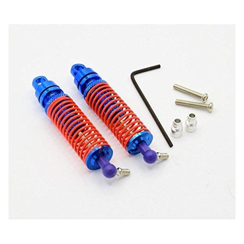 Hot Racing AET35706 Blue Aluminum Rear Threaded Shock - Threaded Rear Shock Set