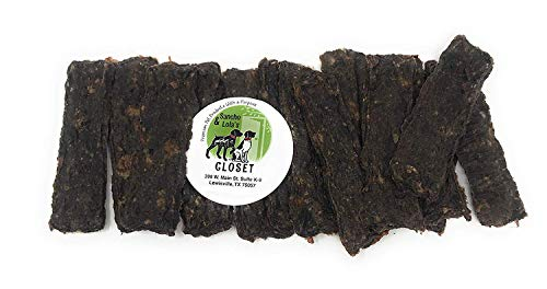 Sancho & Lola's Power Bars for Dogs Made in USA: 8oz Beef Liver, Beef Heart, Venison, Turkey and Sweet Potato Jerky Strips/Grain-Free Treats -