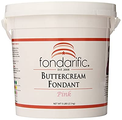 Fondarific Buttercream Pink Fondant, 5-Pounds