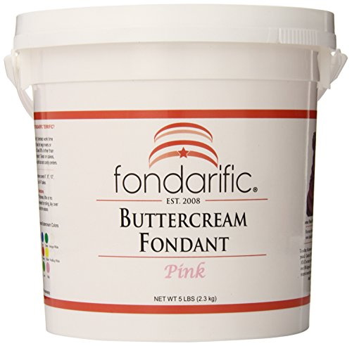 (Fondarific Buttercream Pink Fondant, 5-Pounds )