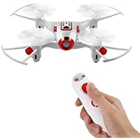 OCDAY Mini RC Drone SYMA X20-S Gravity-Sensing Single Hand Remote Control Quadcopter 2.4GHz 4CH 6-axis Gyro RTF Toy Drone Copter with Headless & Hovering Mode for Indoor & Outdoor Fly (White)