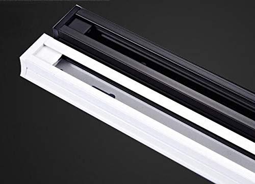 Gimax 1 Meters 2 Phase White Black International Universal Led Track Light Lamp Rail Line Metal Halide Slide Rail Connector - (Color: Track Rail 1Meter, Pins: Black)