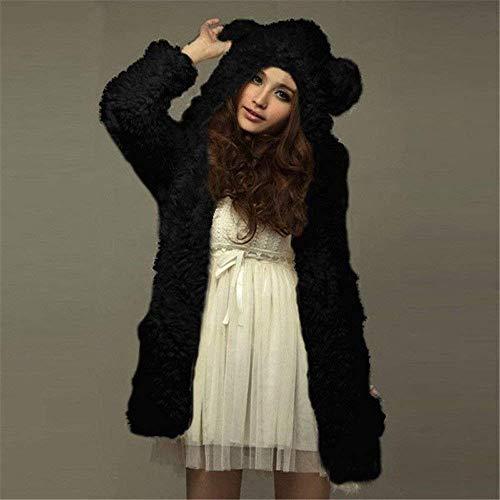 l Hiver Oudan coloré 40 Veste Capuche Outwear Pull Manteaux Cardigans Chaudes Noir Lâche Dames Noir cn D'hiver Fille Mignon Manches Manteau Taille Robuste Eu Femmes vgrFvwqA