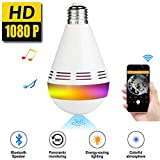 Fixm 360° VR Panoramic IP Camera 1080P WiFi Smart Bluetooth Speaker LED Bulb