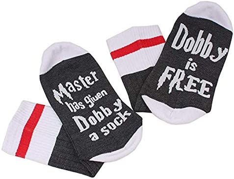 CocoL Master Has Given Dobby a Sock Dobby is Free Socks Novelty Fathers Day Gift socks